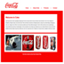 Web design for Coca Cola positioned using XHTML and CSS in Dreamweaver